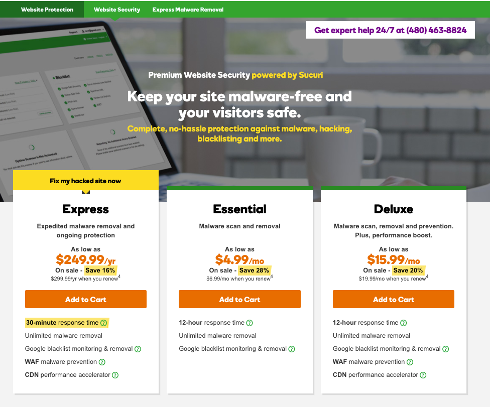 Malware Blocker GoDaddy