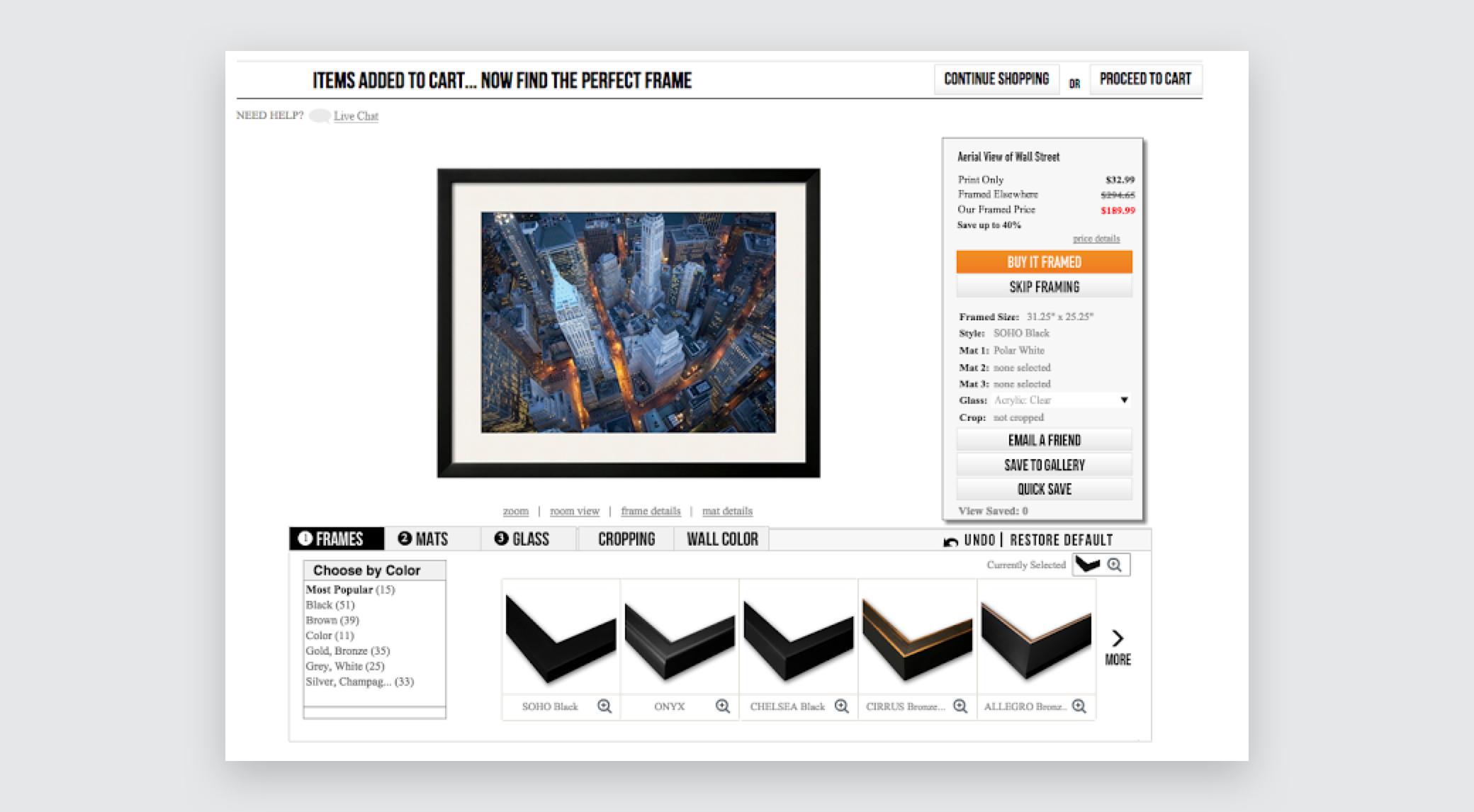 Art.com's cart