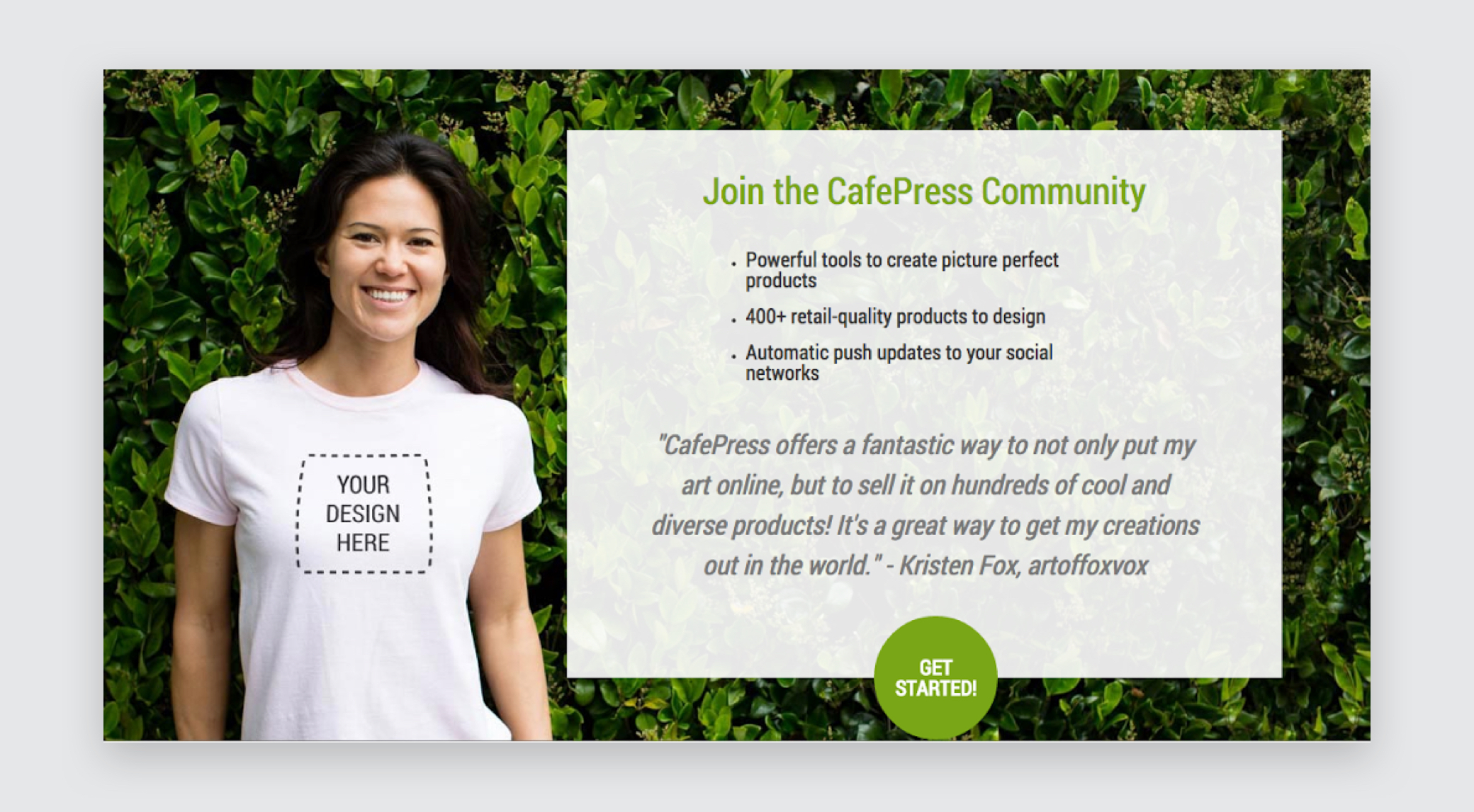 Cafe press testimonial