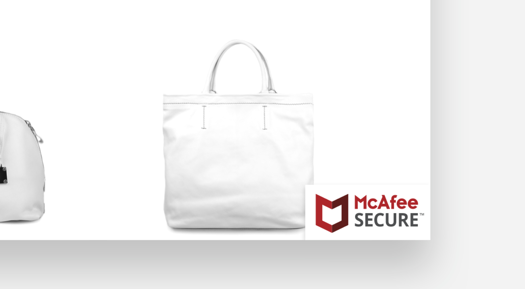 The McAfee SECURE trustmark