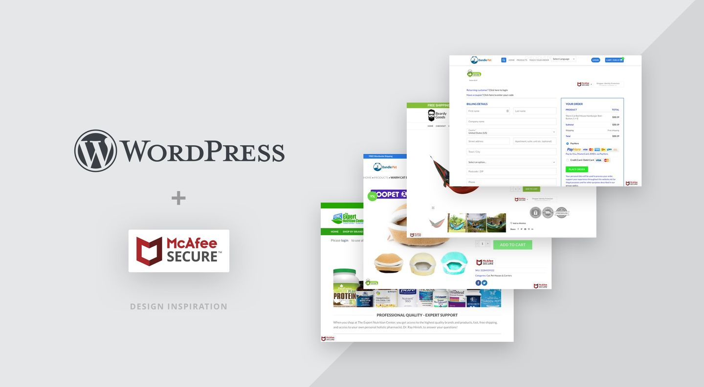 How WordPress sites use the McAfee SECURE trustmark