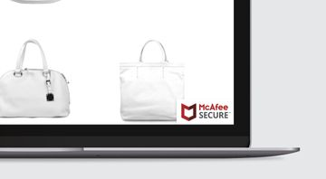 Here's where you should be placing the McAfee SECURE trustmark