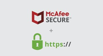 How SSL certificates complement the McAfee SECURE service
