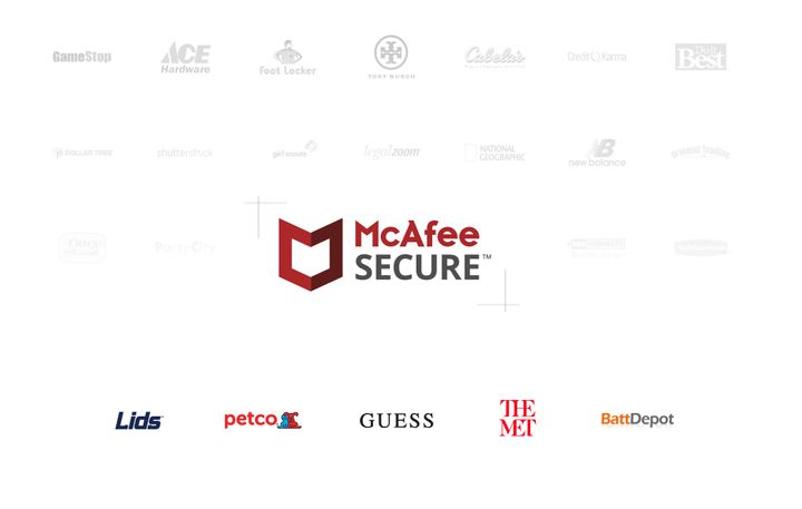 How well-known brands use the McAfee SECURE service